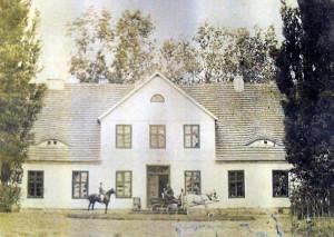 Historische Aufnahme der Gutshauses Zierstorf